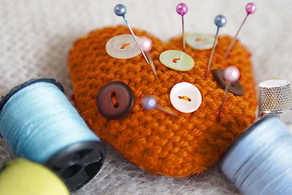 Orange pin cushion