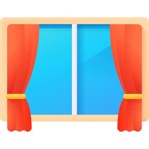 curtain and window Icon
